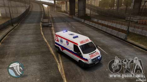 Ford Transit Ambulance para GTA 4 left