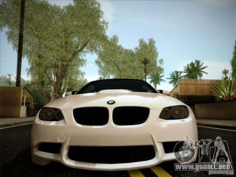 BMW E92 v2 Updated para GTA San Andreas vista hacia atrás