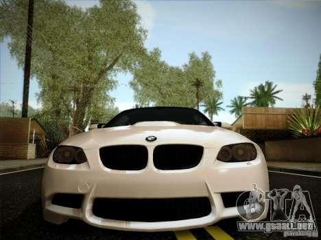 BMW E92 v2 Updated para GTA San Andreas vista hacia atrás