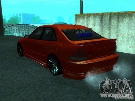 Toyota Altezza para GTA San Andreas left