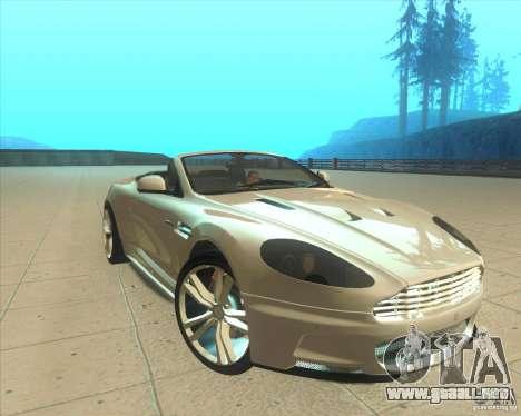 Aston Martin DBS Volante 2009 para la visión correcta GTA San Andreas