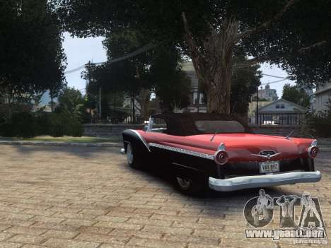 Ford Sunliner Custom 1956 para GTA 4 visión correcta