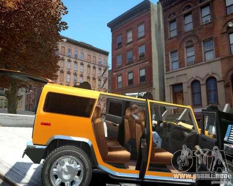 Hummer H2 2010 Limited Edition para GTA 4 vista interior