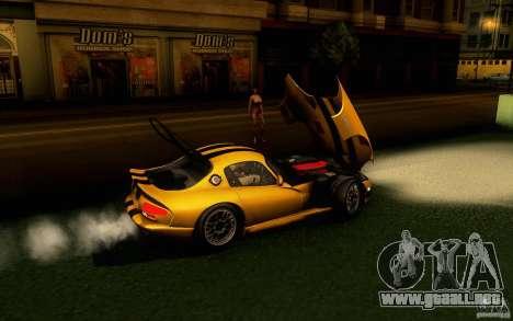 Dodge Viper GTS Coupe TT Black Revel para GTA San Andreas vista posterior izquierda