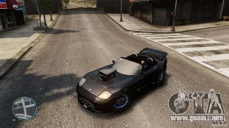 Blue Neon Banshee para GTA 4 vista hacia atrás