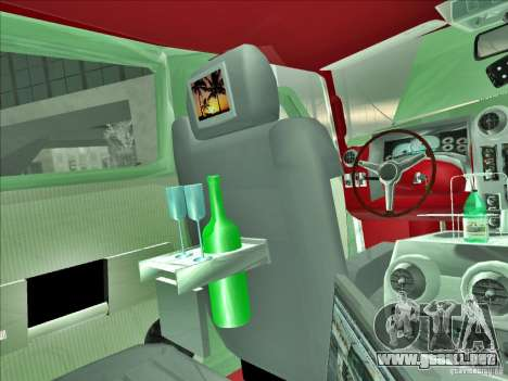 Hummer H2 Phantom para vista inferior GTA San Andreas