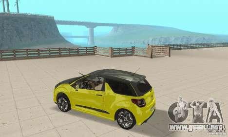 Citroen Ds3 Sport 2011 para la visión correcta GTA San Andreas