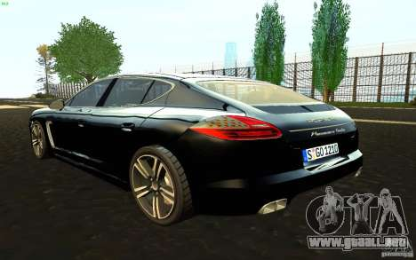 Porsche Panamera Turbo para GTA San Andreas left