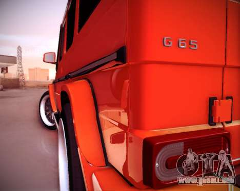 Mercedes-Benz G65 AMG 2013 Hamann para GTA San Andreas