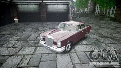 Mercedes Benz W111 Final para GTA 4 vista interior