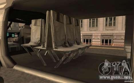 Black Hawk from BO2 para la visión correcta GTA San Andreas