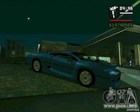 Jaguar JXJ 220 para GTA San Andreas left