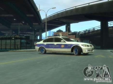 BMW 320i Police para GTA 4 left