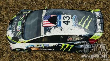 Ford Fiesta RS WRC Gymkhana v1.0 para GTA 4 visión correcta