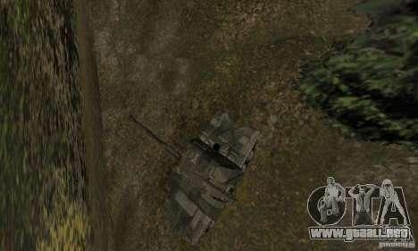 2S19 MSTA-s, versión de invierno para GTA San Andreas vista hacia atrás
