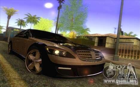 Mercedes-Benz S600 AMG WCC Edition para la vista superior GTA San Andreas