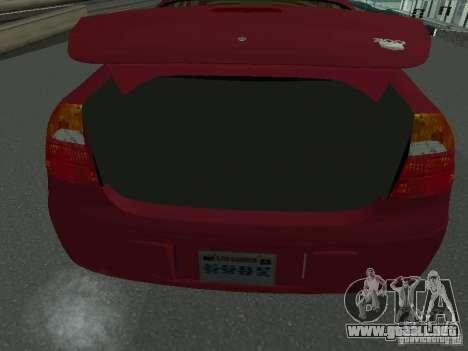 Chrysler 300M para GTA San Andreas vista hacia atrás