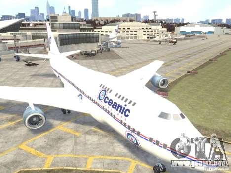 Oceanic Airlines para GTA 4 left