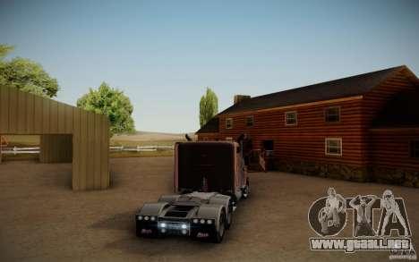 Mack Pinnacle Rawhide Edition para GTA San Andreas vista posterior izquierda