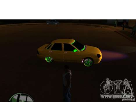 VAZ-2174 Priora Crazy Taxi para GTA San Andreas vista posterior izquierda