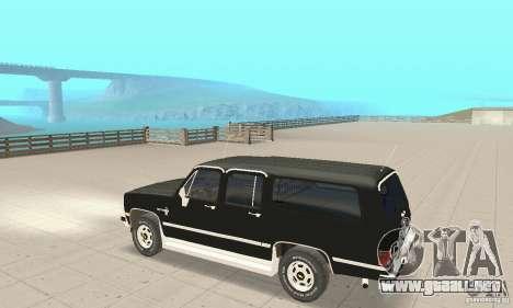 Chevrolet Suburban FBI 1986 para GTA San Andreas vista hacia atrás