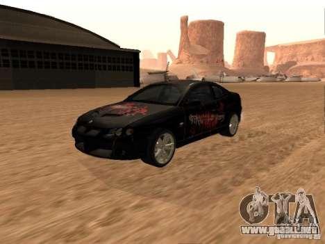Vauxhall Monaro para la vista superior GTA San Andreas