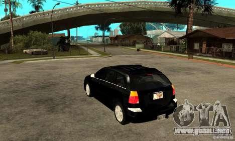 Chrysler Pacifica para GTA San Andreas vista posterior izquierda