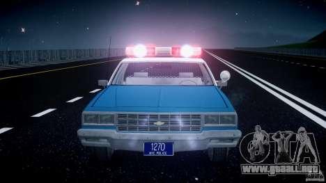 Chevrolet Impala Police 1983 v2.0 para GTA 4 interior
