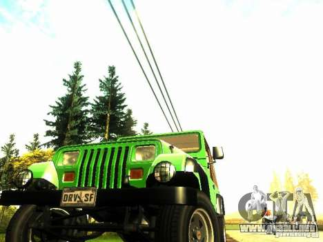 Jeep Wrangler Convertible para la visión correcta GTA San Andreas