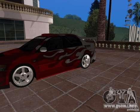 Mitsubishi Lancer Evolution VIII para GTA San Andreas vista hacia atrás