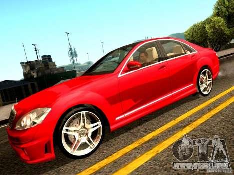Mercedes-Benz S65 AMG 2007 para visión interna GTA San Andreas