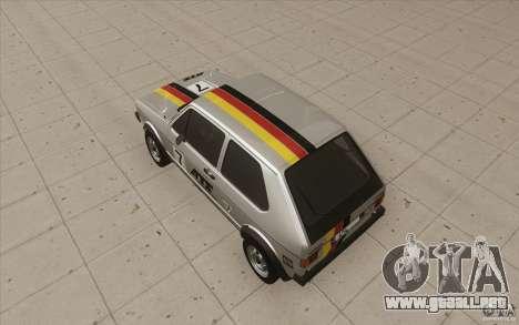 Volkswagen Golf Mk1 - Stock para las ruedas de GTA San Andreas