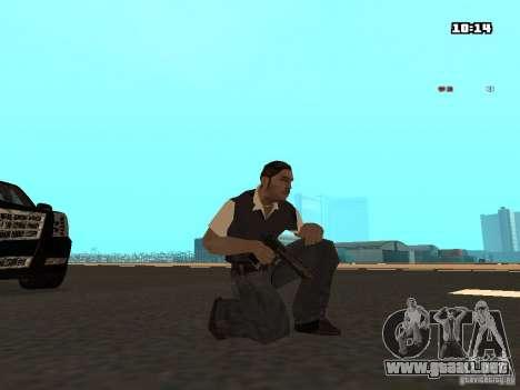 No Chrome Gun para GTA San Andreas segunda pantalla