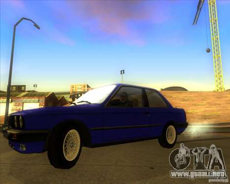 BMW E30 323i para GTA San Andreas vista posterior izquierda