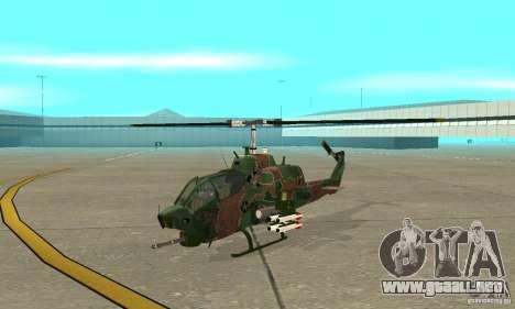 AH-1 super cobra para GTA San Andreas left