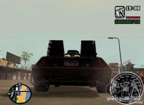 Crysis Delorean BTTF1 para GTA San Andreas left