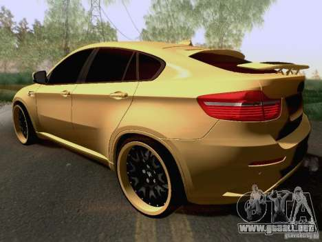 BMW X6M Hamann para la vista superior GTA San Andreas