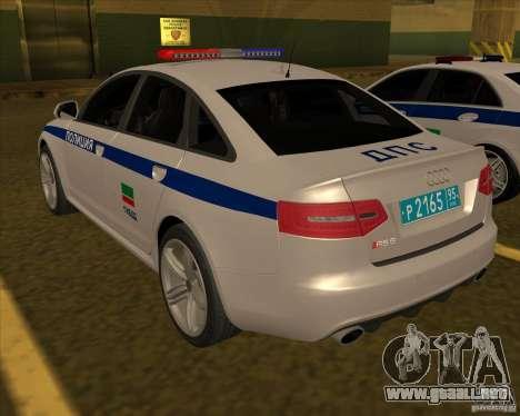 Audi RS6 2010 DPS para GTA San Andreas left