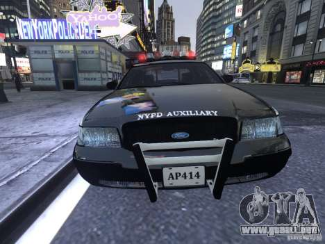 Ford Crown Victoria NYPD Auxiliary para GTA 4 left