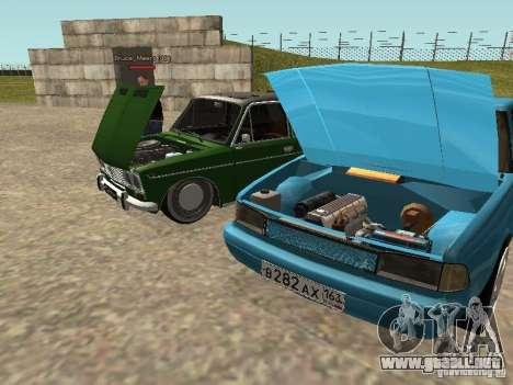 Moskvich 2141 para GTA San Andreas interior