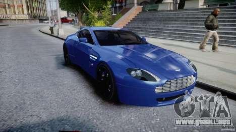 Aston Martin V8 Vantage V1.0 para GTA 4 vista hacia atrás