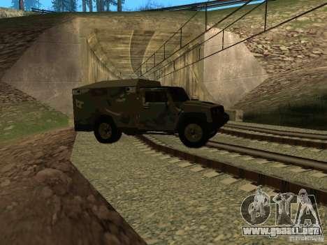 Hummer H2 Army para vista lateral GTA San Andreas