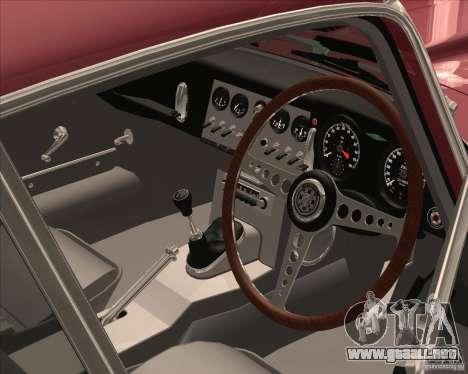 Jaguar E-Type Coupe para GTA San Andreas vista hacia atrás