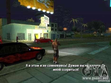 Killer Mod para GTA San Andreas novena de pantalla