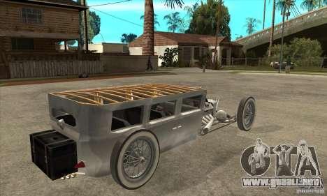 HotRod sedan 1920s para la visión correcta GTA San Andreas