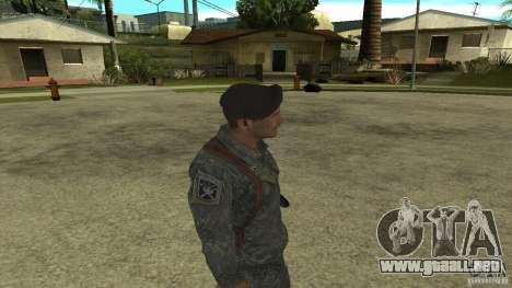 Shepard de CoD MW2 para GTA San Andreas sucesivamente de pantalla