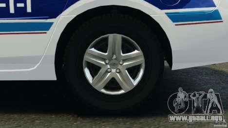 Chevrolet Impala 2012 LCPD para GTA 4 vista hacia atrás