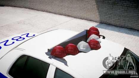 Ford Crown Victoria NYPD para GTA 4 vista desde abajo