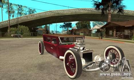 HotRod sedan 1920s para GTA San Andreas vista hacia atrás
