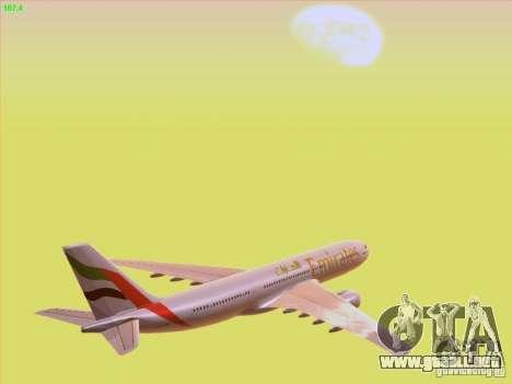 Airbus A330-200 Emirates para la vista superior GTA San Andreas